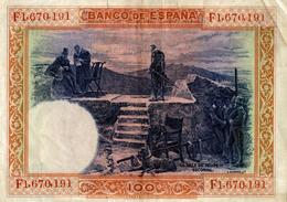 BILLET DE  CIEN PESETAS - Espagne