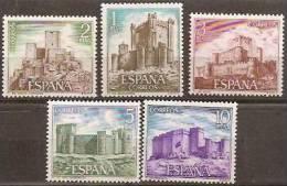 España 2093/2097 ** Castillos. 1972 - 1931-Aujourd'hui: II. République - ....Juan Carlos I