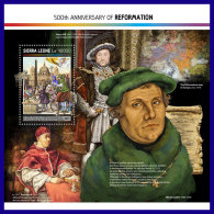 SIERRA LEONE 2017 ** 500 Years Reformation Martin Luther S/S - OFFICIAL ISSUE - DH1716 - Theologians