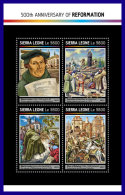 SIERRA LEONE 2017 ** 500 Years Reformation Martin Luther M/S - IMPERFORATED - DH1716 - Theologians