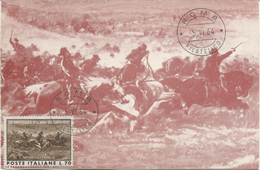 ITALIA - MAXIMUM CARD 1964 - L'ARMA DEI CARABINIERI - Cartas Máxima