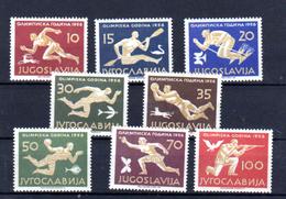 1956  Jeux Olympiques De Melbourne, 706 / 713**, Cote 120 €,