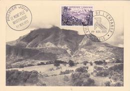 Carte-Maximum FRANCE N° Yvert 1041 (MARTINIQUE) Double Obl Sp 1er Jour (Ed PR) - 1950-59