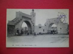 CPA LL Lévy Paris 32-Tunis-Porte Bab-El-Khadra Animée écrite Bizerte 24/6/1916 Cachet Militaire Violet Vaguemestre  B/TB - Tunesien