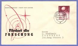 GER SC #731 (Mi 214) 1955 Scientific Research FDC 06-24-1955 - [7] Federal Republic