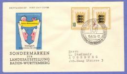 GER SC #729-30 (Mi 212-3) 1955 Baden-Wurttemberg Exhibition FDC 06-15-1955 - [7] Federal Republic