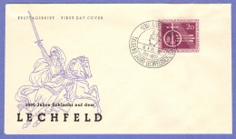 GER SC #732 (Mi 216) 1955 Augsburg FDC 08-10-1955 - FDC: Covers