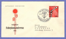 GER SC #734 (Mi 219) 1955 Timetable Conference FDC 10-05-1955 - [7] Federal Republic