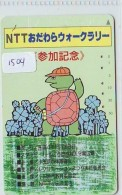Télécarte Japon * TORTUE  (1504)  PHONECARD JAPAN * 110-134205 * TURTLE *  TELEFONKARTE * SCHILDKRÖTE - Turtles