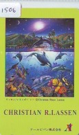 Télécarte Japon * TORTUE  (1506)  PHONECARD JAPAN * 110-176840 * TURTLE *  TELEFONKARTE * SCHILDKRÖTE - Turtles