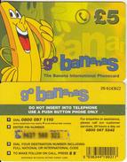 UK - Go Bananas Prepaid Card 5 Pounds, Used