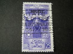 TRIESTE - AMGFTT. 1953, MERITO DEL LAVORO, Usato, TB - Gebraucht