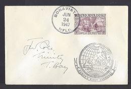 1947 NEWFOUNDLAND Canada John Cabot Ship Commemorative First Day STAMP COVER (#G1572) - Newfoundland