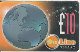UK - Globe, On Line Telecom(UK) Prepaid Card 10 Pounds, Exp.date 09/99, Used