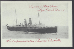 "BELGIQUE - Carte Entier Postal 10 Ct Léopold II "" Paquebots De L'Etat Belge - Ligne Ostende-Douvres ""   Neuf - TB ** - Stamped Stationery"