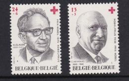 Belgie  : Nobelprijswinnaars  1987   Nrs 2241 - 42   ( Postfris )     RODE KRUIS