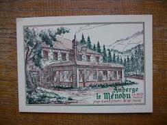 Carte Pub Belgique , La Reid Theux , Auberge Le Menobu - Theux