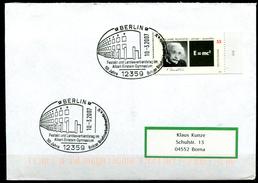 """Germany 2007 Sonderbeleg Albert Einstein M.Mi.Nr.2475 U.SST""""Berlin-Festakt Albert Einstein Gymnasium""""1 Beleg"""