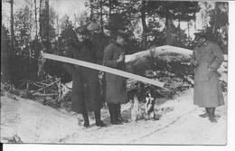 Hiver 1917 Officiers Allemands Avec Leurs Chiens Mascottes Faisant Les Beaux 1 Carte Photo 1914-1918 14-18 Ww1 - War, Military
