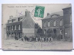 76 - FOUCARMONT - ECOLE DES GARCONS - LA POSTE - ANIMEE - 1908 - Other Municipalities