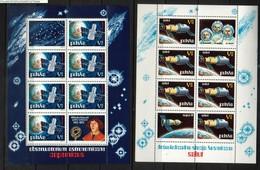 POLAND 1973 SPACE EXPLORATION - SALUT COPERNICUS SHEETLETS NHM Astronomy Astronomer Cosmos Rocket USA USSR Russia