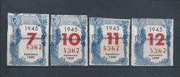 4 Benfica Share Of The Year 1945. Sport Lisboa E Benfica. Eusebio.Soccer.Mitgliedsbeiträge Benfica Im Jahr 1945 Fußball. - Sports