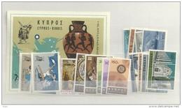 1967 MNH Cyprus, Year Complete, Postfris - Zypern (Republik)