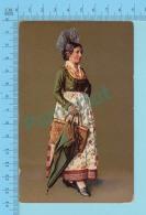 """SUISSE - Jungferntracht Aus Dem  Schwyz """" ED:A.G. KILCHBERG ZURICH"""" - Post Card Carte Postale Cartolina - 2 Scans - Suisse"""