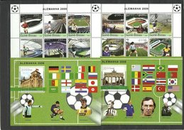 GUINEA BISSAU  2004  Soccer Football World Cup 2006  2 Sheetlets+2 SS Perf.