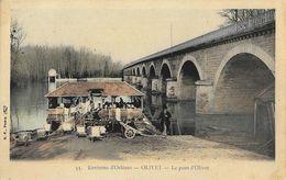 Environs D'Orléans (Loiret) - Le Pont D'Olivet, Lavandières Au Lavoir - Edition B.F. Paris - Carte Colorisée, Dos Simple - France