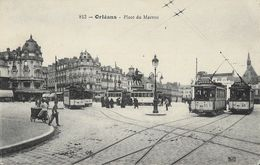 Orléans (Loiret) - Place Du Matroi, Tramway, Triporteur - Carte Th.G. Non Circulée - Orleans
