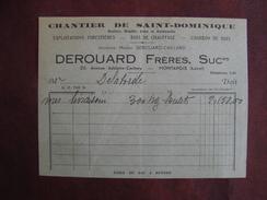 FACTURE DEROUARD MONTARGIS CHANTIER DE SAINT-DOMINIQUE - Frankreich