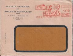 Oil.Huiles BP.Mechanical Franchise S. G. Huiles De Petroleo BP,circulated In 1952.Fuel For Vehicles.Aufkleber Unlauf.2sc