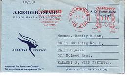 Australia Airmail Cover To Pakistan   (X-27) - 1966-79 Elizabeth II