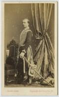 CDV Militaire 1860-70 Saint-Edme à Paris. M. Maupin, Clerc D'huissier à Rebais. Garde Impériale. - Photos