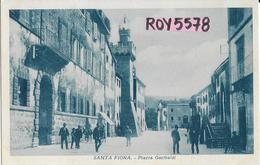 Toscana-grosseto-santa Fiora Piazza Garibaldi Veduta Molto Animata - Italia