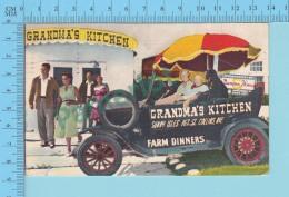 ADVERTISING - PUBLICITÉ - FL Miami Beach  - Grandma's Kitchen Farm Dinners -linen Post Card - Miami Beach