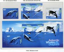 1995 - TERRITORIO ANTARTICO AUSTRALIANO - A.A.T  - Mi. Nr. 102/105 + Block 1 - NH - (CW2427.45) - Territoire Antarctique Australien (AAT)