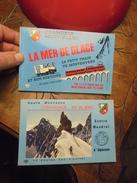 Lot De 2 Carnets CHAMONIX La Mer De Glace Train Du Montenvers Et Son Histoire / Centre Mondial D'Alpinisme : 20 CARTES - Chamonix-Mont-Blanc