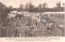 Chennevières . Construction Du Syphon En Ciment Armé . - France