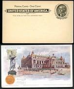 EX92 Postal Card Transmississippi Exposition 1898 Mint Vf Cat. $100.00 - ...-1900