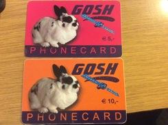 Gosh  -  5 + 10 €  Rabbit Animal    - Little Printed   -   Used Condition - [2] Prepaid
