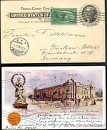 EX94 Postal Card Transmississippi Exposition 1898 ADVERTISED EDW LOWEY Germany