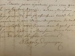 LAS JEAN ANTOINE RIGOLEY DE JUVIGNY LETTRE AUTOGRAPHE 1765 - Autographes