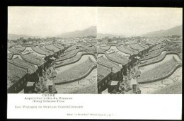 CHINE - Aspect Des Villes Du Yunnan (Tong Tchuan Fou) - Vue Stéréoscopique - (Beau Plan Animé) - Chine