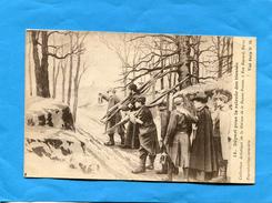 Guerre 14-18-nuit Au Front Départ Pour La Relève Des Bléssés-prêtre Et Infirmiers-a Voyagé En 1917-édition Noyer - Guerre 1914-18