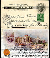 EX95 Postal Card Transmississippi Exposition 1898 ADVERTISED LOWEY To Germany