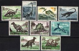 SAN MARINO - 1965 - ANIMALI DELLA PREISTORIA - NUOVI MNH - Neufs