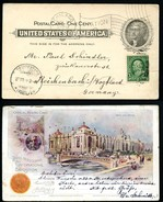 EX95a Postal Card Transmississippi Exposition 1898 Used To Germany Cat. $100.00