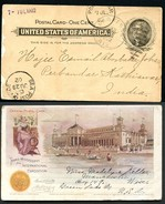 EX96 Postal Card Transmississippi Exposition 1898 Used To INDIA Cat. $175.00